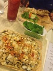 At a vegatarian restaurant at Brixton whose name I forgot