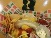 Fish Tacos from Madeca. Too floury!