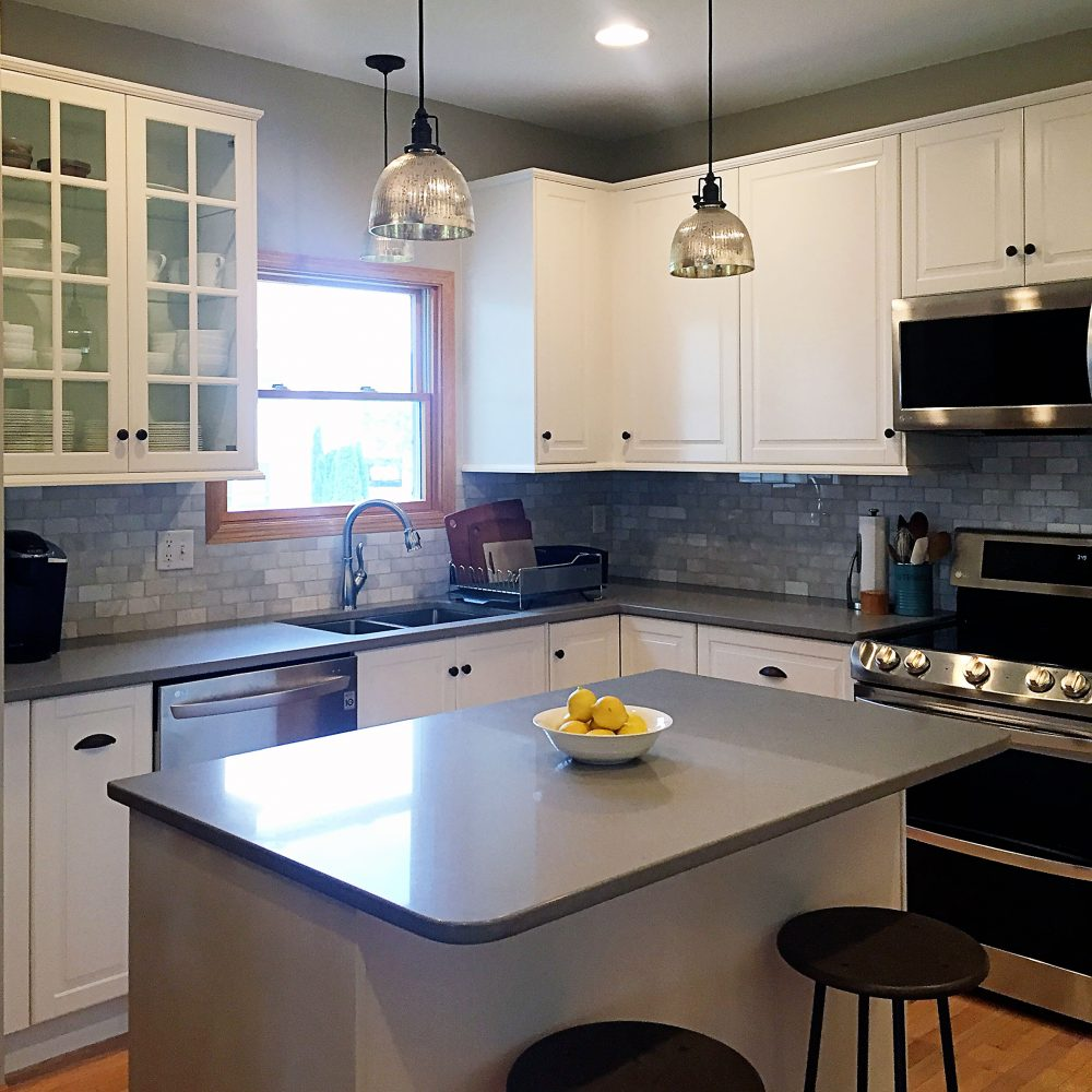 Before and After Kitchen Makeover with IKEA SEKTION • Interior Designer Des Moines Jillian Lare