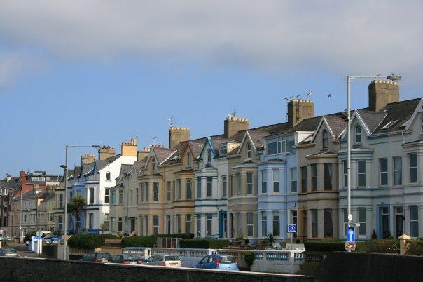 Houses on the coast in Bangor.