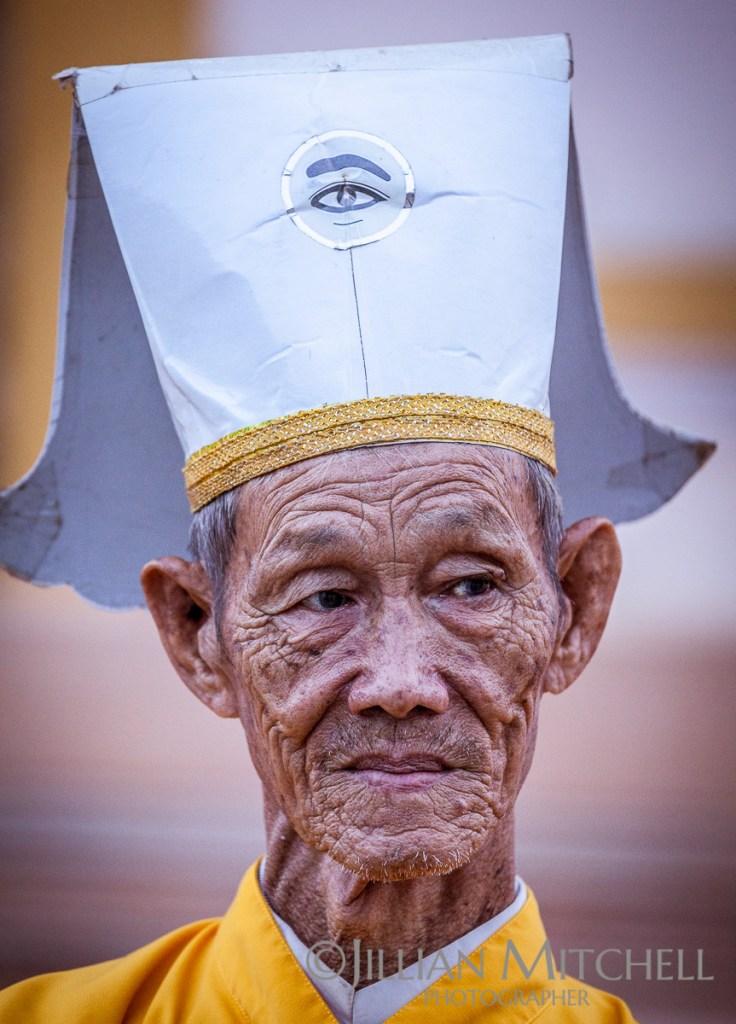 Cao Dai Assistant Priest, Tay Ninh, Vietnam