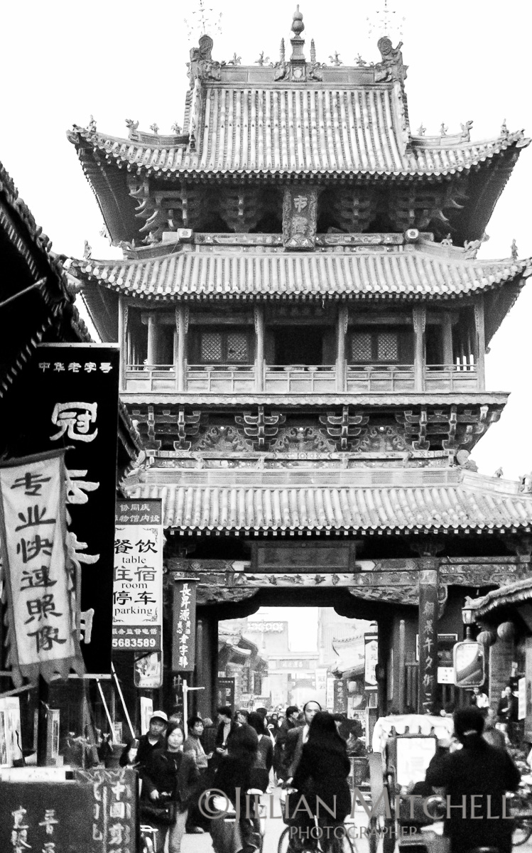 On the streets of Pingyao, China back in 2001.
