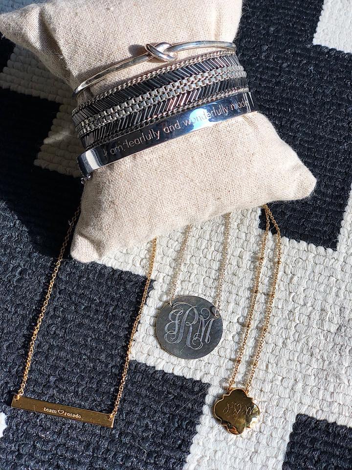 Stella & Dot Engravable Jewelry
