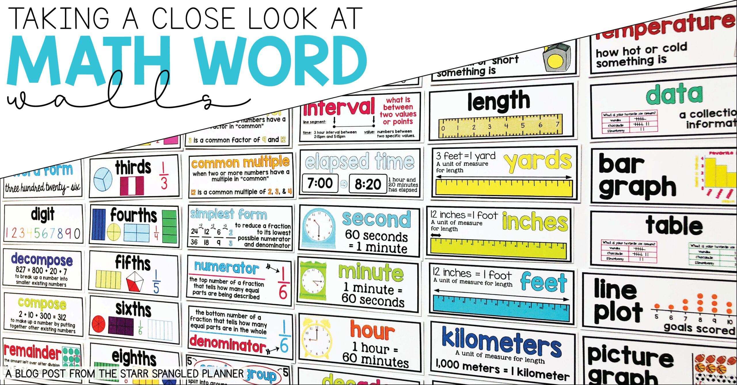 Math Word Walls: How to Teach Math Vocabulary - Teaching ...