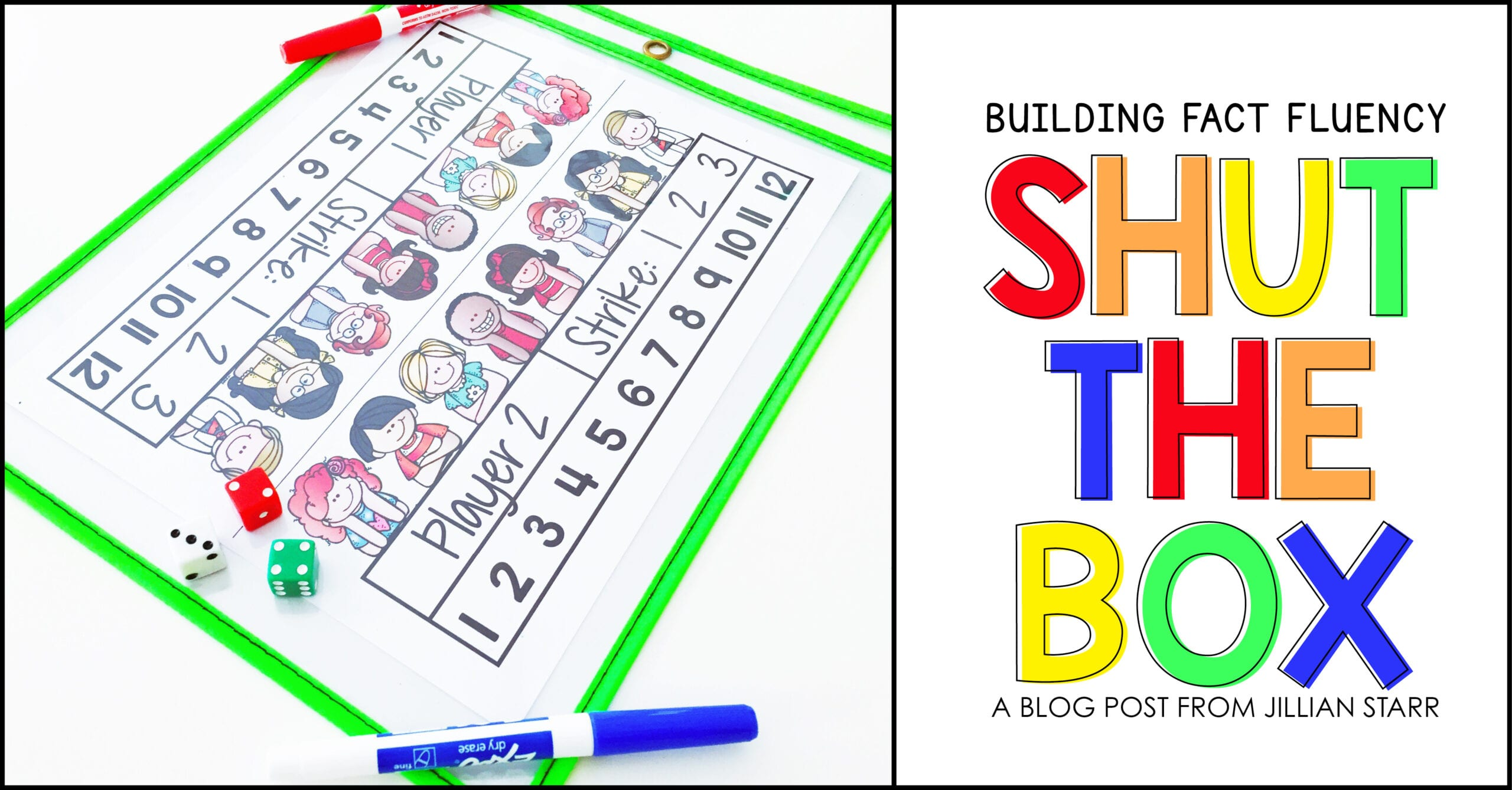 Shut The Box- Building Math Fact Fluency - Teaching with ...