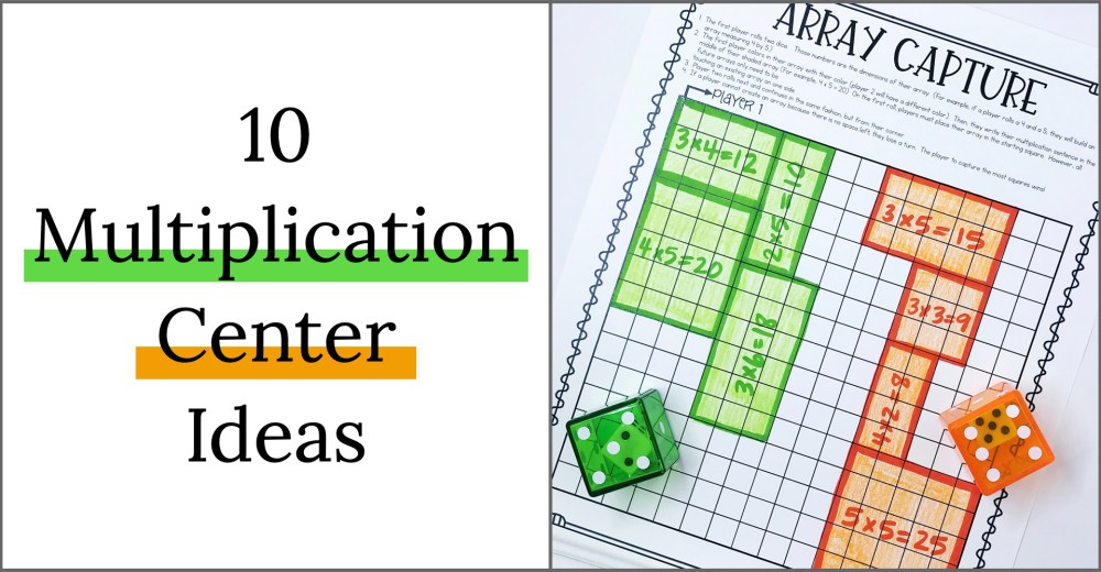 medium resolution of 10 Multiplication Math Center Games \u0026 Activities
