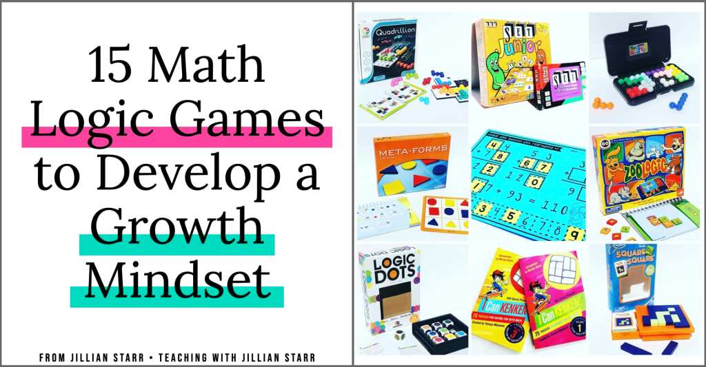Logic Games and logic puzzles are the perfect way to help your kids develop a growth mindset in the classroom. We even have Growth Mindset Logic Puzzles as a Math Center in our classroom! These are some of my ALL TIME FAVORITE (and student-approved) logic games with links for where you can grab them!