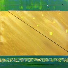 O'er the wall towards Anstruther. Acrylic on board. 60 cm x 60 cm
