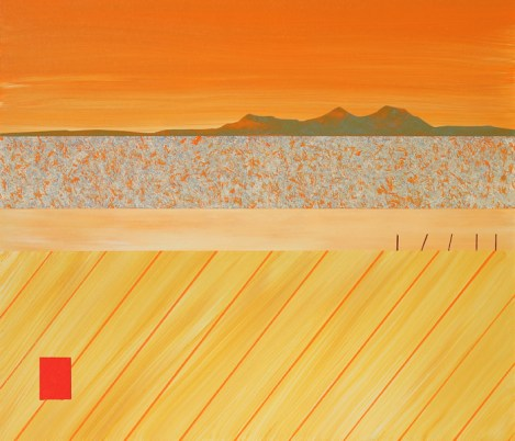 The Eildons over autumn fields - sold