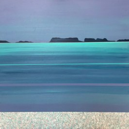 Small Reef Bay, Lewis, 30cm x 30cm Acrylic on board,
