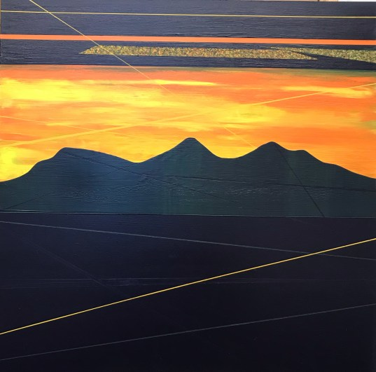 Sunset, clouds and lines at Scott's View - sold