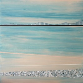 Distant Shore lX, Acrylic on board, 10cm x 10cm