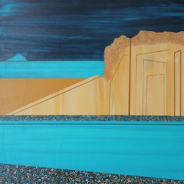 Dunsapie and Berwick Law, Acrylic on board, 30cm x 30cm