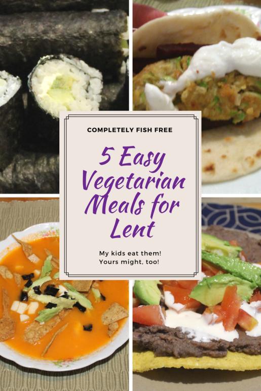 5 Easy Vegetarian Meals