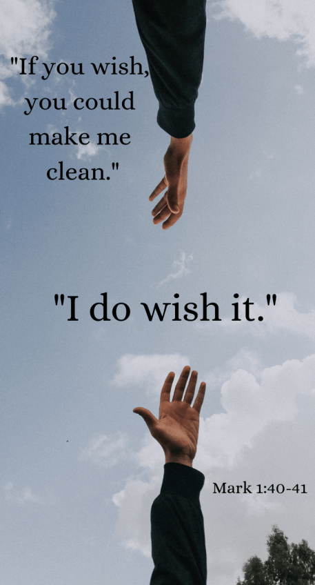 _If you wish, you could make me clean._