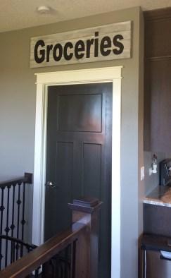 Groceries sign on door