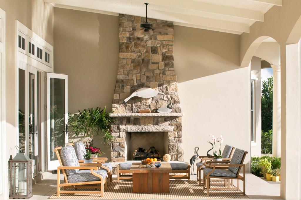 Jill Shevlin Design Outdoor Fireplace Seating