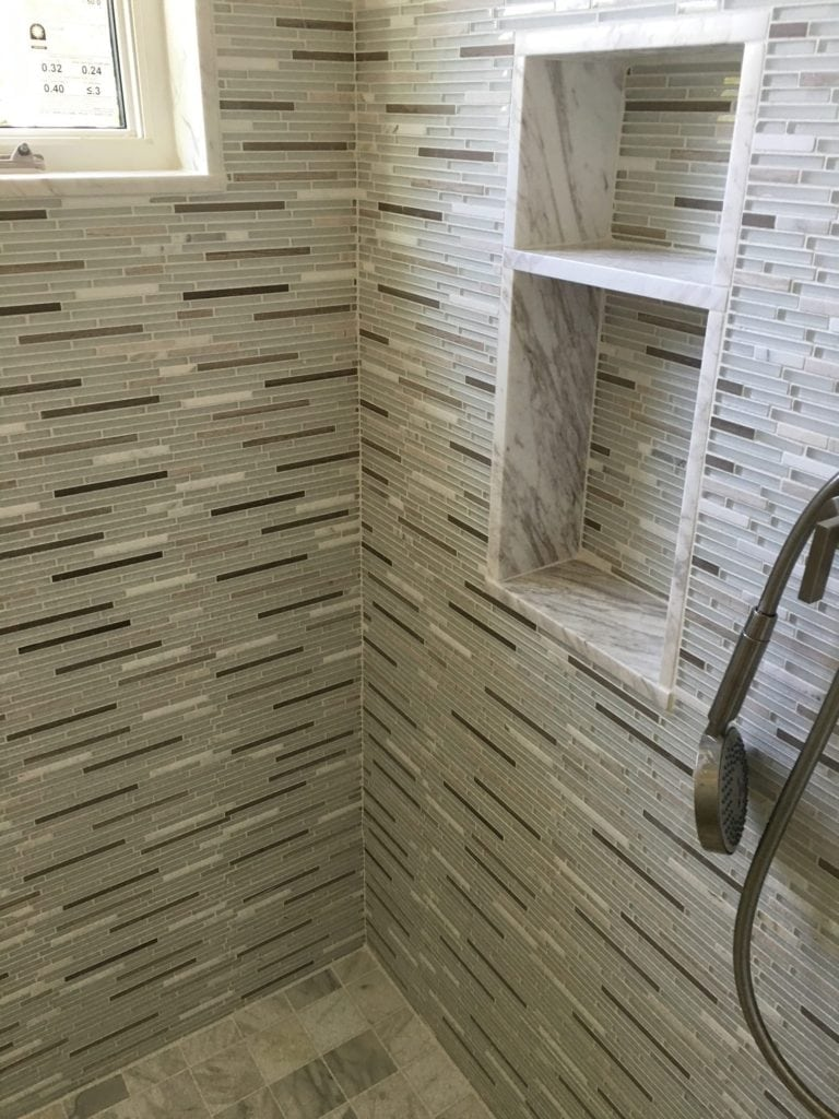 Master Shower Tile Detail New Construction Home Orchid Island Jill Shevlin Interior Designer