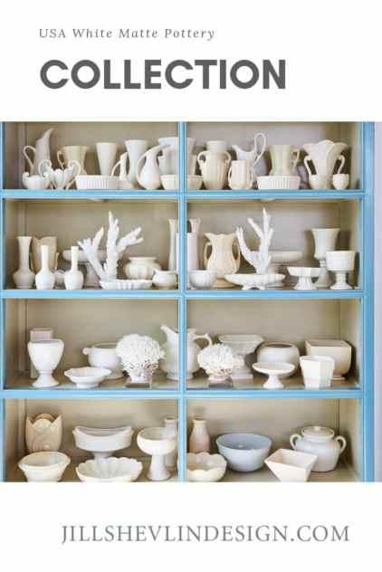 Collection USA White Matte Pottery Collection Jill Shevlin Design