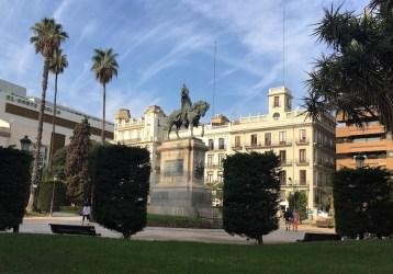 King James statue Parterre park Valencia Spain