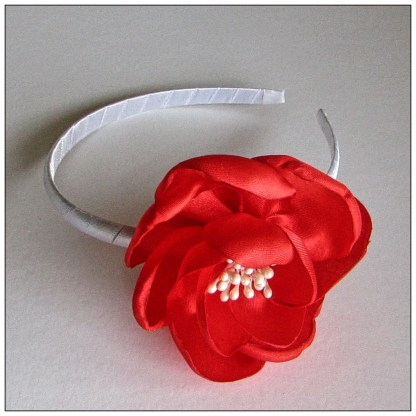 red large fabric flower