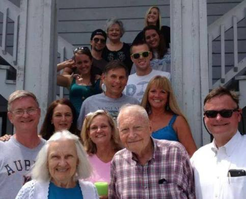 The whole crew at our annual Beach Reunion
