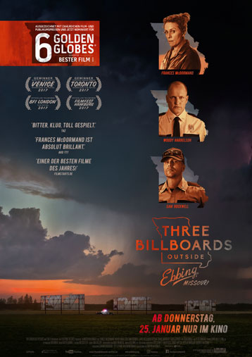 """Three Billboards outside Ebbing, Missouri"" ab 25. Januar im Kino"