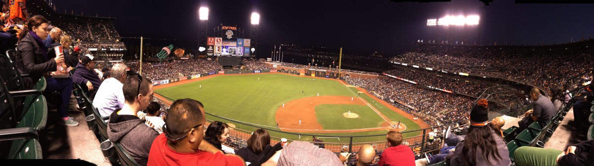 Panorama-View des AT&T Parks