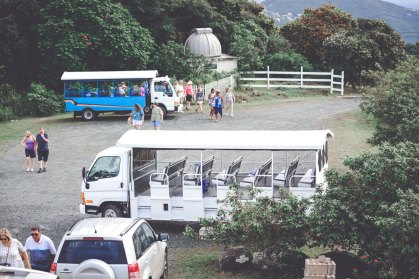 Safaribusse vor Sky World, Tortola