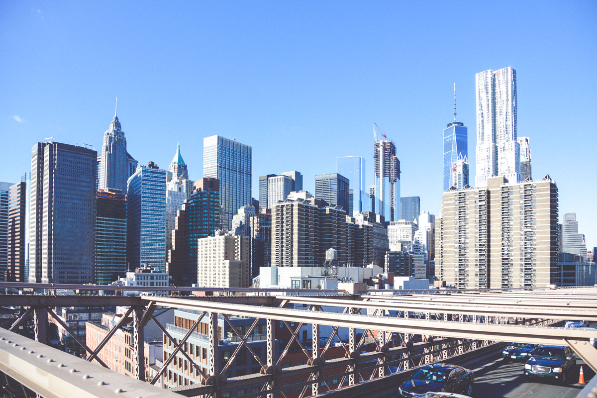View von der Brooklyn Bridge