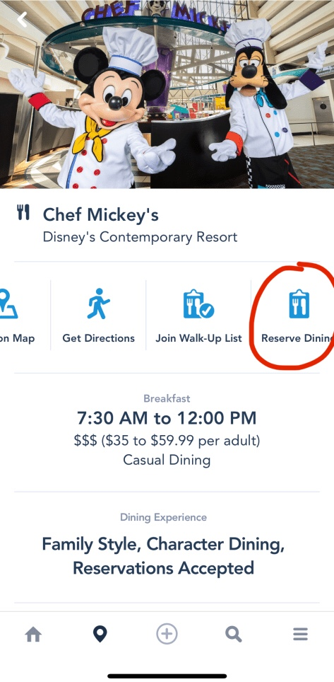 Tip for Checking Dining Availability on MDE App