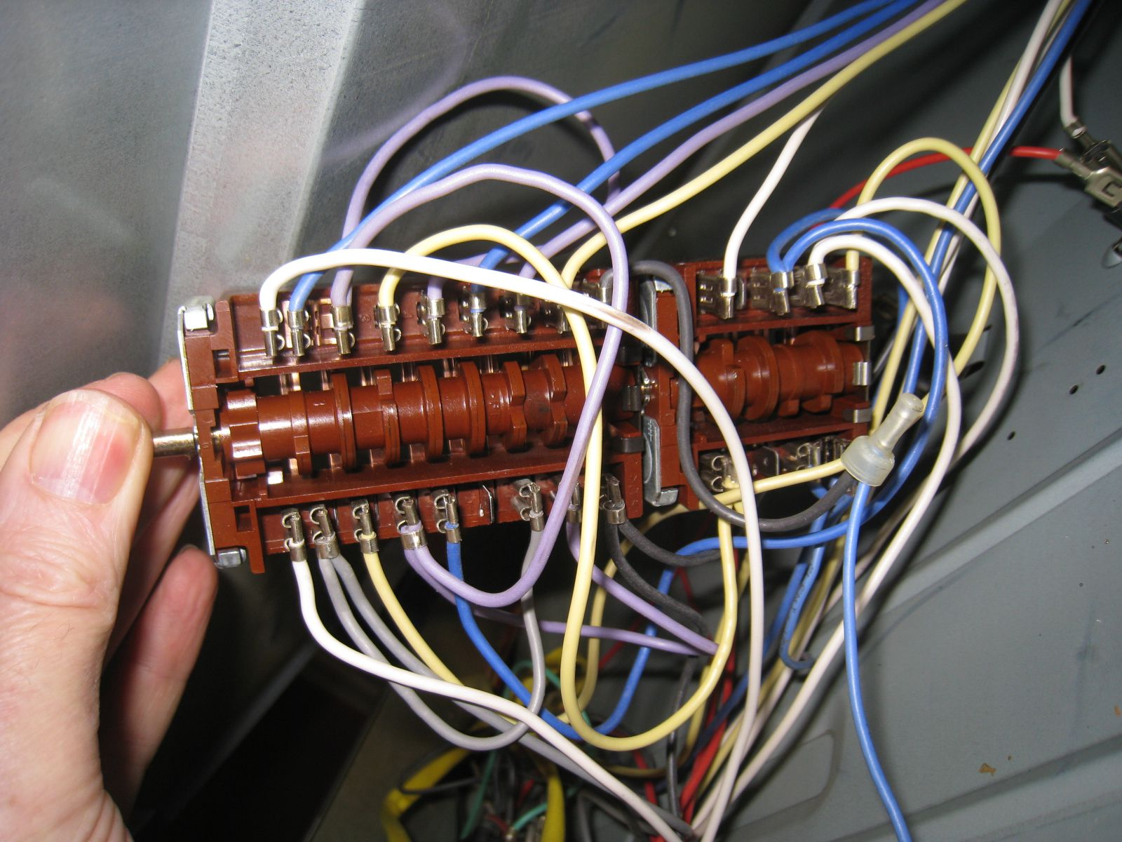 hight resolution of picture of my hotpoint bd52 large oven selector switch with its wiring
