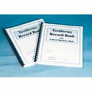 taxidermy record book