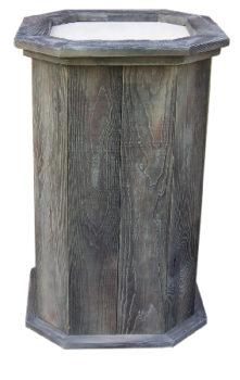 barnwood pedestal