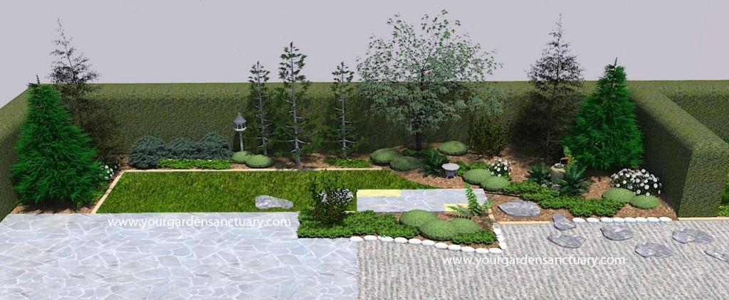 portfolio japanese garden design for a narrow backyard