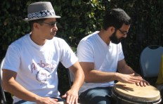 Drummers at Melrose/Heliotrope