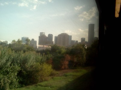 Houston DT from train