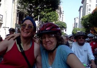 Liz Rosenblatt and Chris King on Spring Street.