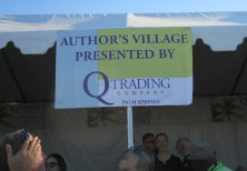 Author's Village at the PS Pride Festival, sponsored by our friends at Q Trading Company.