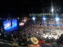 Arena filling up.