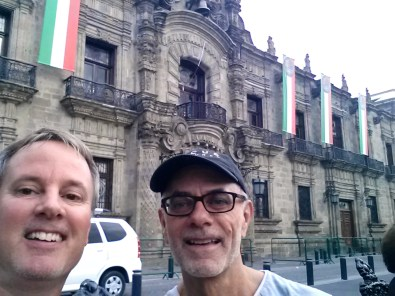 We made it! In front of the Jalisco State Government Building in GDL
