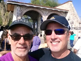 In front of Vicente Fernandez's ranch.