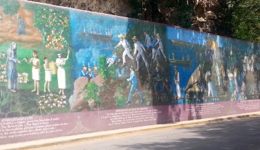 Mexican History mural in Chapala.