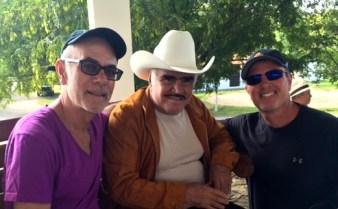 With Mexican Superstar Vicente Fernandez.