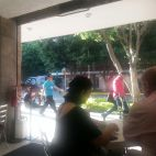 At the Cafe Madrid, GDL.