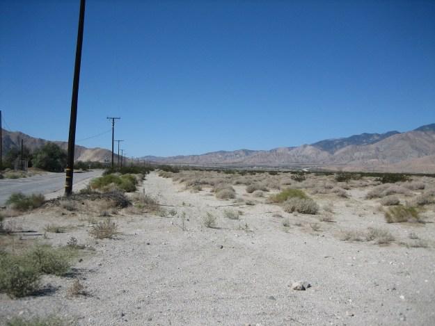 The desert, looking toward San Gorgonio Pass