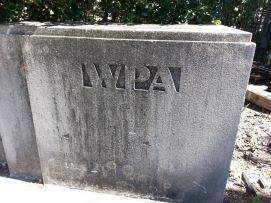 a WPA Bridge, City Park. Loving the deco typography