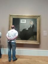 Whistler's Mother, hanging at the Art Institute of Chicago.
