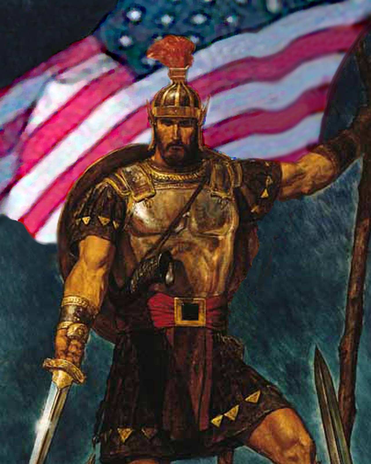 BeforeAfter Series  Captain Moroni and the Title of Liberty  Jim Astin Designs