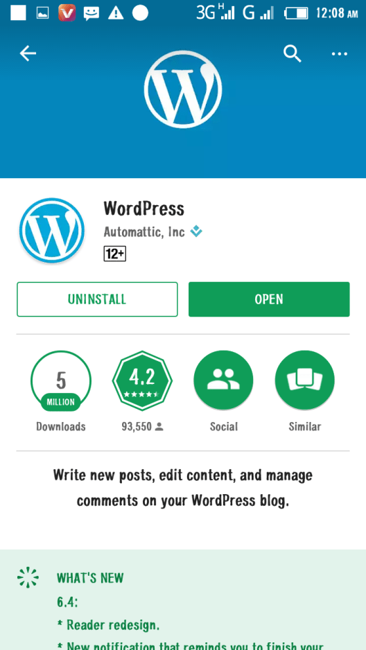how to create a website on android